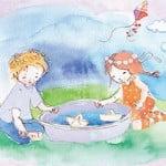 """חגי דוידוף, מרצה הקיובייס שלנו, ובת זוגתו קרן, באלבום שירי ילדים """"חברים שבלב"""""""