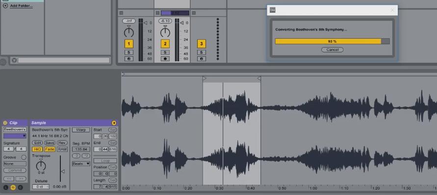 המרת הרמוניה ומלודיה ל-MIDI ב-Ableton Live