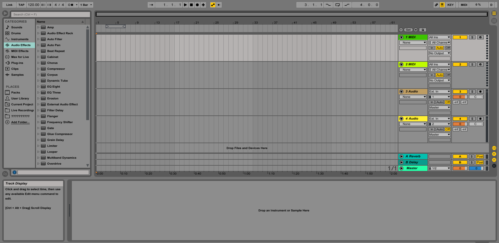 Ableton Live Arrangement View - מכללת BPM