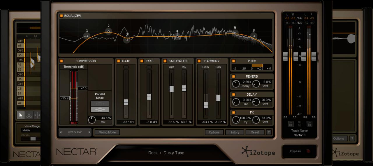 פלאגין מומלץ למיקס שירה, iZotope Nectar 2 Production Suite
