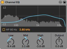 Channel EQ, איקוולייזר חדש באבלטון לייב 10.1 - מכללת BPM
