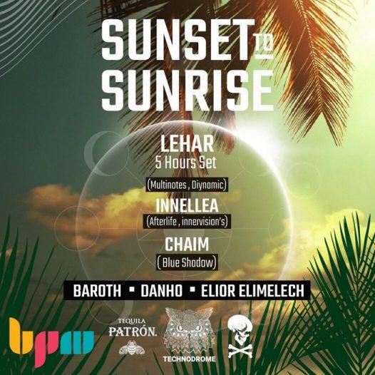 טכנודרום Technodrome Sunset to Sunrise, כרטיסים מוזלים לקהילת BPM