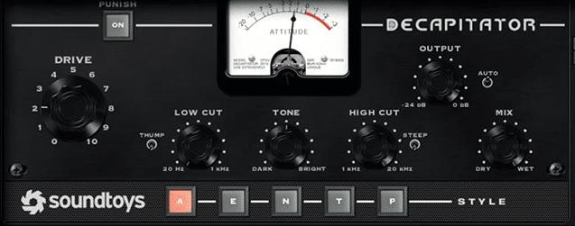 כלי העשרה הרמונית, Soundtoys Decapitator - מכללת BPM
