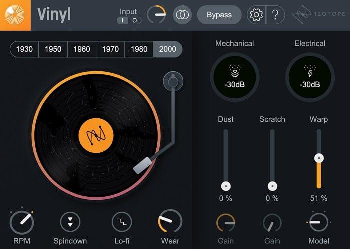 פלאגינים חינם להפקה אלקטרונית, iZotope Vinyl - מכללת BPM